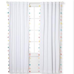 "84"" Tassel blackout curtain panel"